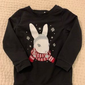 Gymboree Sweatshirt dress with by bedazzled bunny